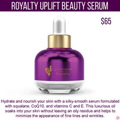 Younique Royalty Uplift Beauty Serum. To get specials, new product information and more join my VIP Facebook Group https://www.facebook.com/groups/106517206410341/
