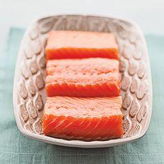 SALMON - I love smoked Salmon with Greek Yogurt on a slice of Ezekiel Sprouted Grain Bread