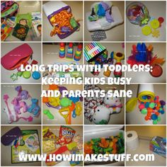 Long Trips with Toddlers - Great ideas to keep young kids busy while in the car - travel ideas from www.howimakestuff.com