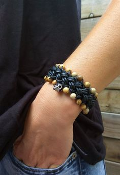 Skull Bracelet For Husband With Real Leather Charm Bracelet Perfect Valentines Day Birthday Gift Ideas