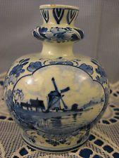 Porceleyne Fles ~ 1911 DELFT VASE ~ Antique Dutch Porcelain