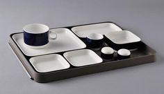 Hans Theo Baumann / Lufthansa board tableware with plastic tray / 1976