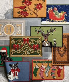 Shop holiday door mats from Frontgate.