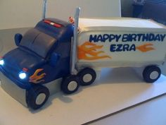 Semi-Truck Birthday Cake By Palomascakes on CakeCentral.com