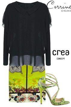 Crea Concept Chiffon Blouse - washable, travel clothing for women.