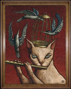 """by Jay Long... The name of this should be """"The Pied Piper""""...#cat"""