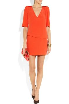 a little orange dress...