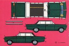 Opel Diplomat 67 Papiermodell Karton paper model cut out kit recortable decouper