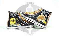 Adventure Time Bacon Pancakes Custom Converse Shoes High Tops