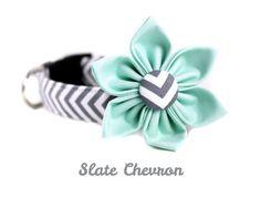 Chevron+Dog+Collar+Set+Cat+Collar+Set++Slate+by+BowWowCouture,+$29.95