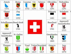 Switzerland is a federal republic situated in central Europe. Today it consists of 26 federal states called Cantons. Each canton h. Swiss National Day, National Flag, Swiss Flag, Swiss Army, Zermatt, St Gallen, Swiss Miss, Lucerne Switzerland, Zurich