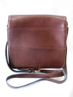 Vintage Coach Tribeca 9092 New York Brown Leather Crossbody/Messenger Flap Closure Bag by CLASSYBAG on Etsy