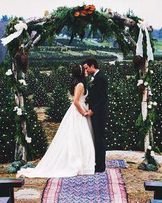 This Blogger's Christmas Tree Farm Wedding Will Make You Want an Xmas Ceremony via Brit + Co