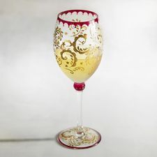 Jubilance Painted Wine Glass