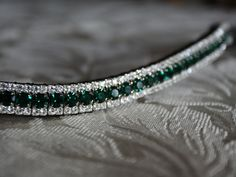 Equiture - Emerald and clear browband, $59.57 (http://www.equiture.biz/emerald-and-clear-browband/)