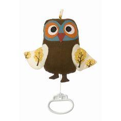 Musical Owl by Ferm Living Owl Mobile, Baby Crib Mobile, Designers Guild, Design Shop, Motif Simple, Interior Design Guide, Little Owl, Modern Kids, Danish Design