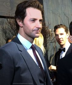 Richard Armitage and Benedict Cumberbatch at the Black Carpet for the New Zealand premiere of The Hobbit: The Desolation of Smaug.