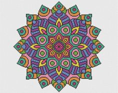 Thank you for looking!  Available here is this complete cross stitch kit containing everything you need to stitch this statement Mandala. Using vibrant colours, this symbol - representing the universe - uses whole cross stitches only and is of an easy skill level.  Your kit will contain;  A piece of 16 count white Aida fabric, 2 x John James cross stitch needles, Genuine DMC threads sorted onto an organiser, The complete four page chart in colour with key, A reference picture of the…
