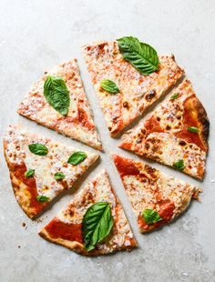 Thin Crust pizza via How Sweet Eats