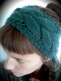 FREE Headband/Earwarmer Knitting Patterns - The Lavender Chair : Thick Braided Cable Headband Free Knitting Pattern Baby Knitting Patterns, Free Knitting, Crochet Patterns, Summer Knitting, Bandanas, Knit Crochet, Crochet Hats, Knit Headband Pattern, Crochet Headbands