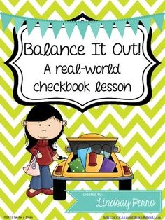Real World Math Checkbook Lesson and Activity