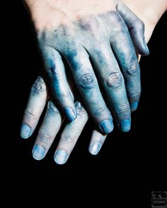 I finally rediscovered this photo in my archive. It was such a good feeling to look down at blue hands and know that we made made something with them.