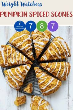 These Pumpkin Spiced Scones are a copycat of the Starbucks favourite but without the Points. At just 7 SmartPoints per scone on Weight Watchers Freestyle, Blue and Purple plans this will soon become a favourite WW dessert recipe. #weightwatchers #ww #wellnessthatworks #weightwatchersrecipes #starbuckscopycat #weightwatchersrecipeswithpoints #weightwatcherstreats #weightwatcherssnacks #weightwatcherscake #wwblueplan #wwpurpleplan #wwgreenplan #pumpkinspiced Weight Watchers Cake, Weight Watchers Pumpkin, Weight Watchers Chicken, Wheat Free Recipes, Ww Recipes, Low Calorie Recipes, Real Food Recipes, Weightwatchers Desserts, Starbucks Pumpkin Spice