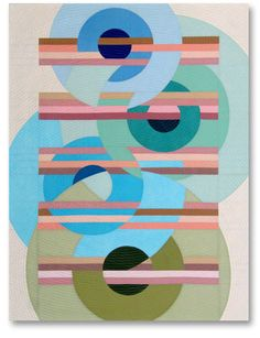"Liz Kuny, contemporary quilt artist: The Last Measure, 45"" x 34"""