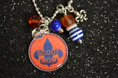 Scout Mom Tiger Cub Pendant Necklace, Bottle Cap Necklace, Gift, Cub Scouts on Etsy, $11.00