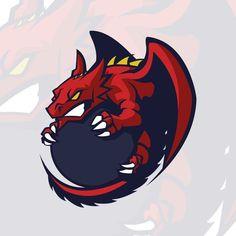 Dragon Sports, Gaming Logo, Logo Dragon, Team Logo, Game Logo Design, Esports Logo, Mascot Design, Logo Concept, Animal Logo