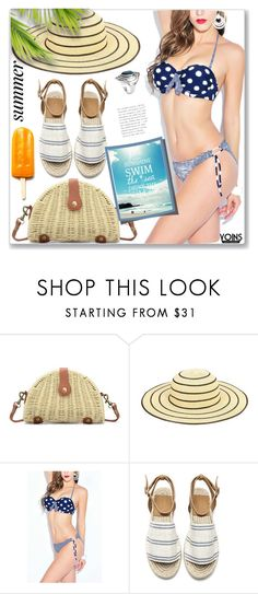 """""""Vacation Navy Sexy Wave Point Bodycon Swimwear"""" by jecakns ❤ liked on Polyvore featuring Disney"""