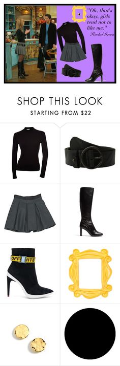 """""""I know this isn't great but I AM CRAZY ABOUT FRİENDS"""" by dilsad-cangr on Polyvore featuring moda, Amsterdam Heritage, Miu Miu, Joseph, Off-White, Kenneth Cole, Wall Pops!, friends ve rachelgreen"""