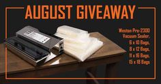 Help me #win a Weston Pro-2300 Vacuum Sealer Kit from #waltonsinc worth $510!  Enter using my link to help me win!