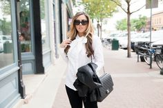 Black and white Chanel outfit