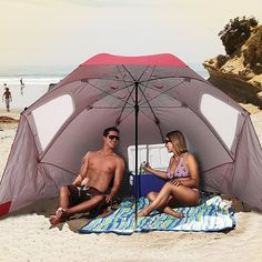 Sport-Brella XL Portable Sun and Weather Shelter. A beach umbrella, sun tent, rain shelter, and additional bushed one, the Sport-Brella XL provides you instant portable protection from the elements in