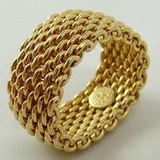 Simple gold Tiffany mesh ring