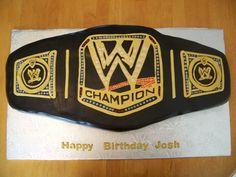 WWE Title Belt Cake Wrestling Birthday Parties, Boy Birthday, Birthday Cakes, Birthday Ideas, Wwe Cake, Wrestling Cake, Wwe Party, Jeff Hardy, Martha Stewart Weddings