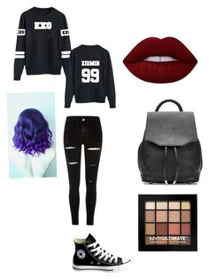 """""""Exo'lution Concert"""" by celestial-luna on Polyvore featuring River Island, Converse, Lime Crime, rag & bone and NYX"""