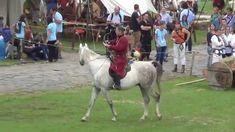 Kassai Lajos lovasíjász és tanítványai a Savaria Történelmi Karneválon