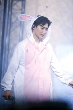 Suho in a bunny suit, my poor feelings, they are all dead ❤️ Baekhyun Chanyeol, Exo K, Luhan And Kris, Kim Joon Myeon, Exo Official, Kim Jong Dae, Exo Lockscreen, Exo Luxion, Korean Boy