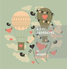 Royalty-free Vector Art: Air balloons