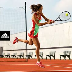Tennis | Roland Garros 2012 | Ana Ivanovic in adidas adizero Dress in super green and core energy
