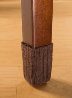 Small/Chocolate Brown-Chair Leg Floor Protector Pads - 8 Pack Furniture Socks by NancyProtectz, http://www.amazon.com/dp/B003ZMT2B8/ref=cm_sw_r_pi_dp_tvK0rb0MSJBF9