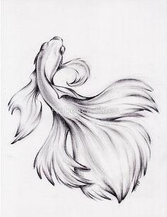 Water Dance - Original Charcoal Pencil Drawing of a Siamese/.-Water Dance – Original Charcoal Pencil Drawing of a Siamese/Betta Fighting Fish … Water Dance – Original Charcoal Pencil Drawing of a Siamese/Betta Fighting Fish – - Pencil Drawings Of Animals, Easy Pencil Drawings, Fish Drawings, Animal Sketches, Art Drawings Sketches, Tattoo Pez, Betta Fish Tattoo, Beta Fish Drawing, Fish Pencil Drawing