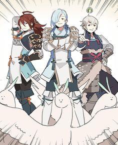 Fire Emblem Fates. Subaki, Shigure, and Kiragi. The pegasus crew. 「FEifまとめ2」/「STAR影法師」の漫画 [pixiv]