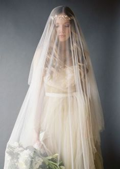 The most stunning veil: http://www.stylemepretty.com/oregon-weddings/bend/2015/04/07/romantic-gold-wedding-inspiration/ | Photography: Marina Koslow - http://marinakoslowphotography.com/: