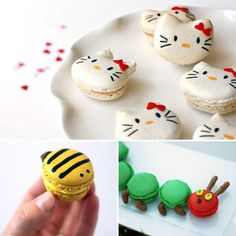 Oh, my! I may have to make macaroons! How adorable are the bumblebees?