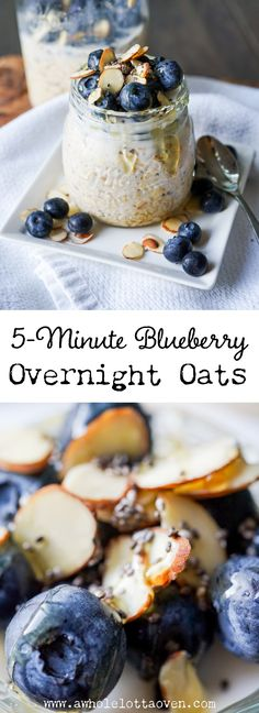 4 Points About Vintage And Standard Elizabethan Cooking Recipes! Blueberry Overnight Oats - A Whole Lotta Oven Baked Breakfast Recipes, Breakfast Bars, Best Breakfast, Brunch Recipes, Crockpot, Blueberry Overnight Oats, Oven Recipes, Cooking Recipes, Nutrition
