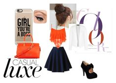 """""""Casual"""" by musie-della ❤ liked on Polyvore featuring Pin Show, WearAll, Casetify, Marc by Marc Jacobs, Topshop, LORAC, Summer, casual, orange and bossLady"""