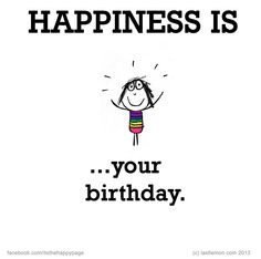 happiness is your birthday